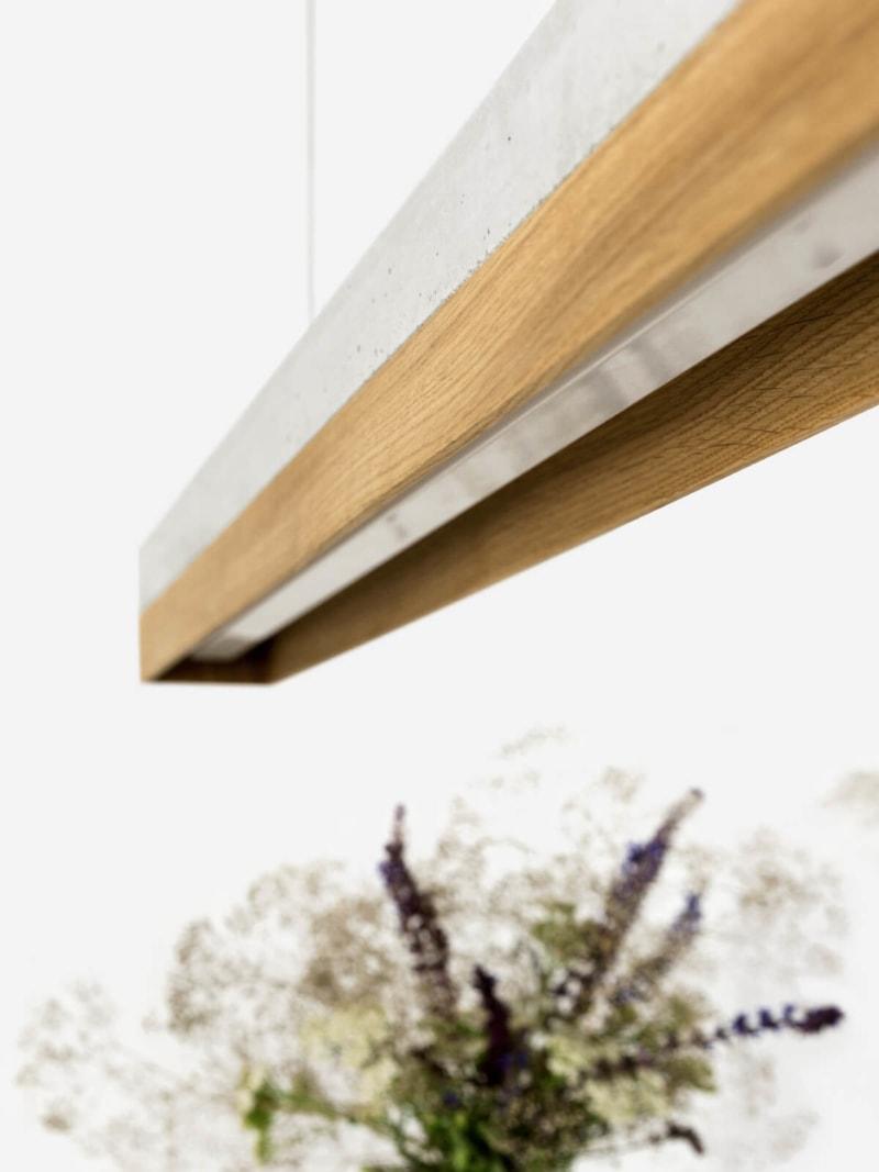 130916 C1 Eichenholz Beton Lampe Ansicht von Unten