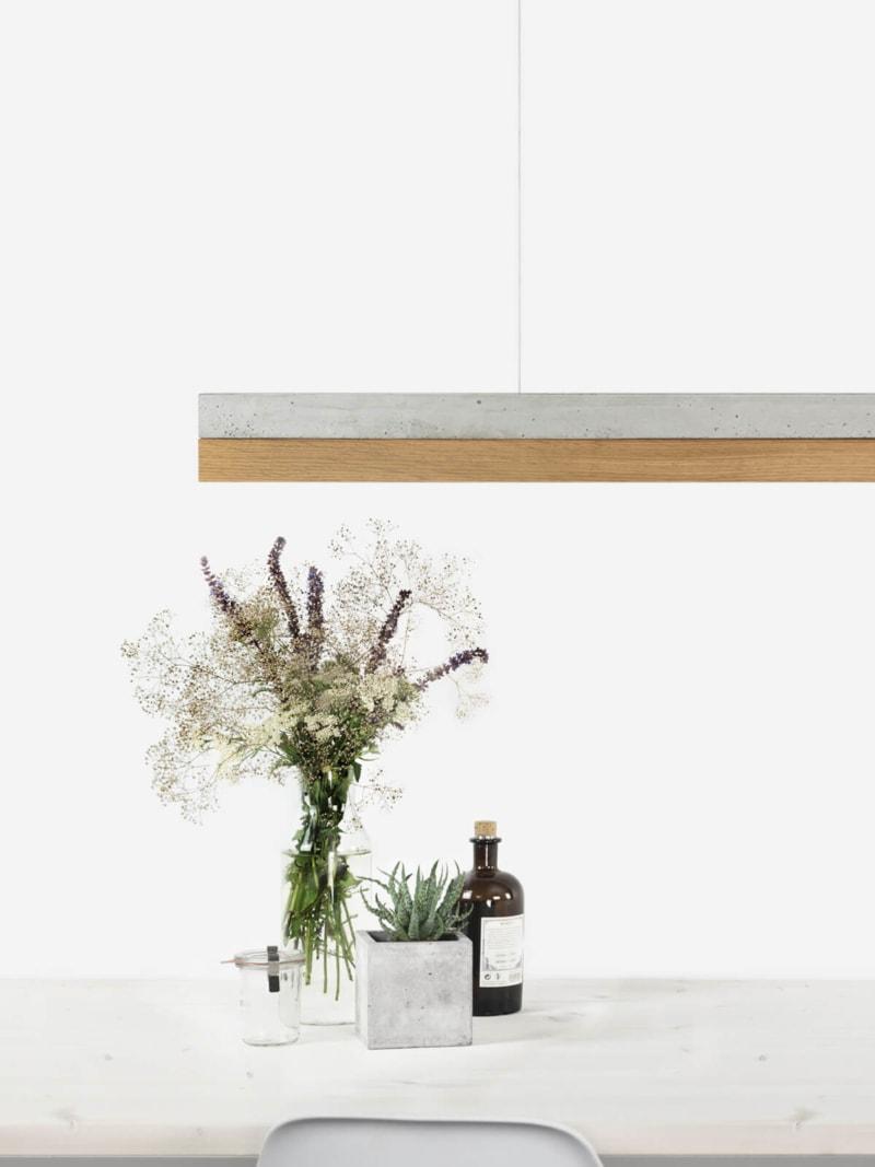 200917 C1 Beton hell Eichenholz Lampe Detail Vorschaubild