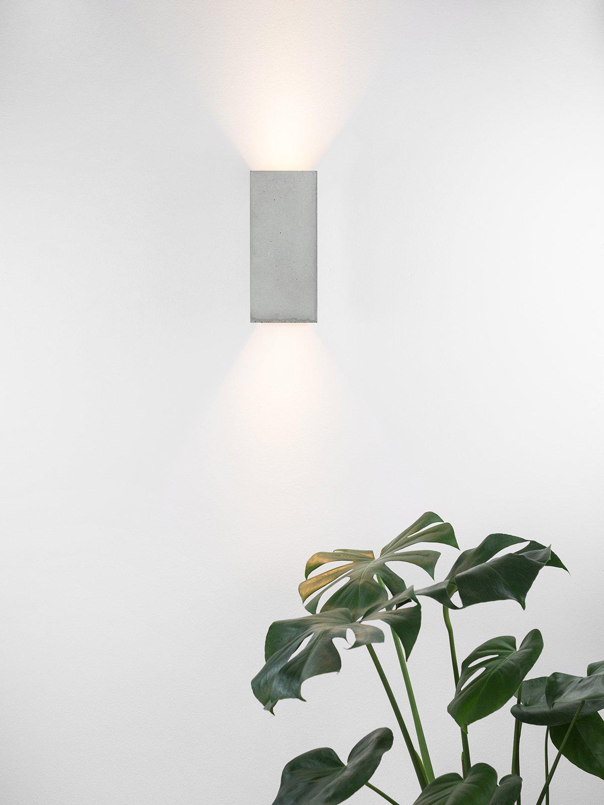 products 171108 B8 Betonlampe mit Pflanze Wandlampe