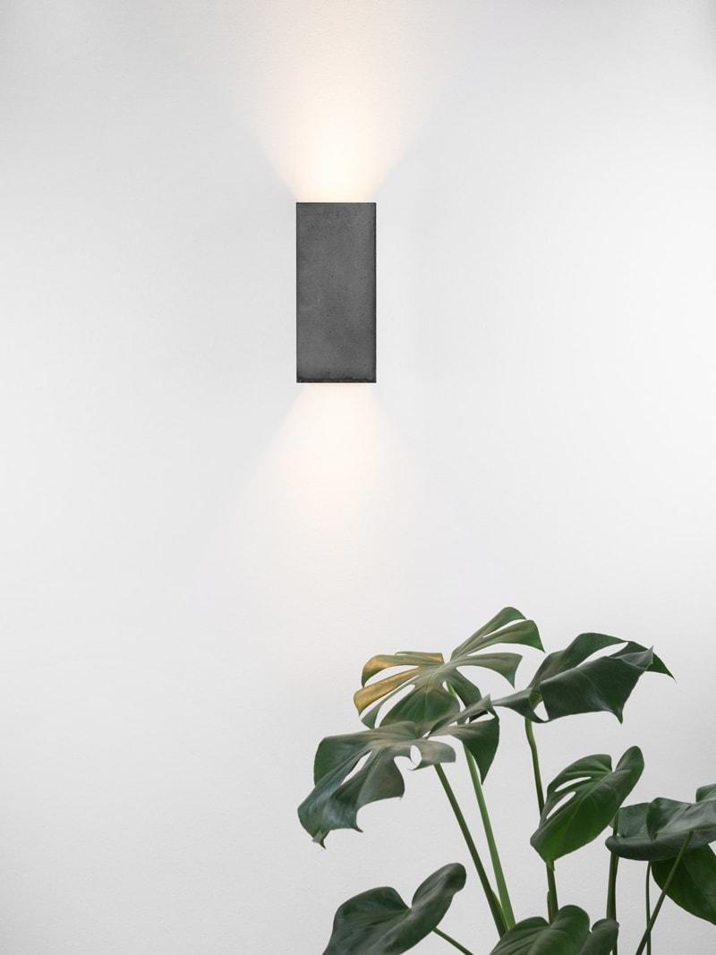 products 171108 B8dark Betonlampe mit Pflanze Wandlampe