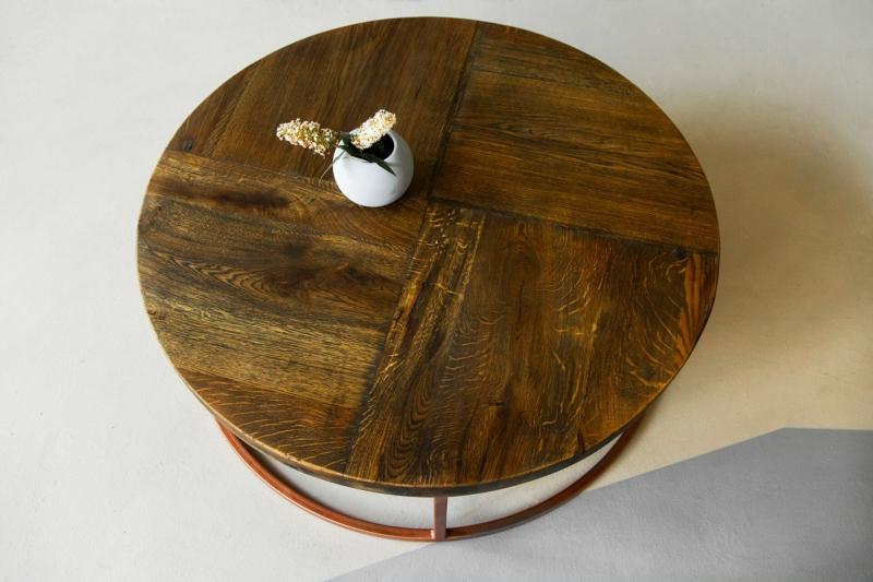 Couchtisch rund kupfer loire 04 1