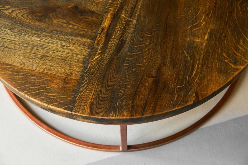 Couchtisch rund kupfer loire 05 1
