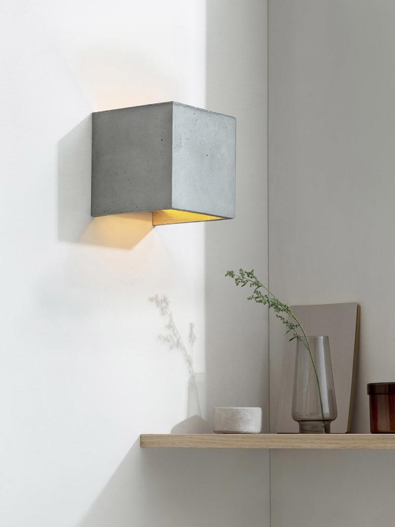 b3 wandlampe quadratisch beton gold 02