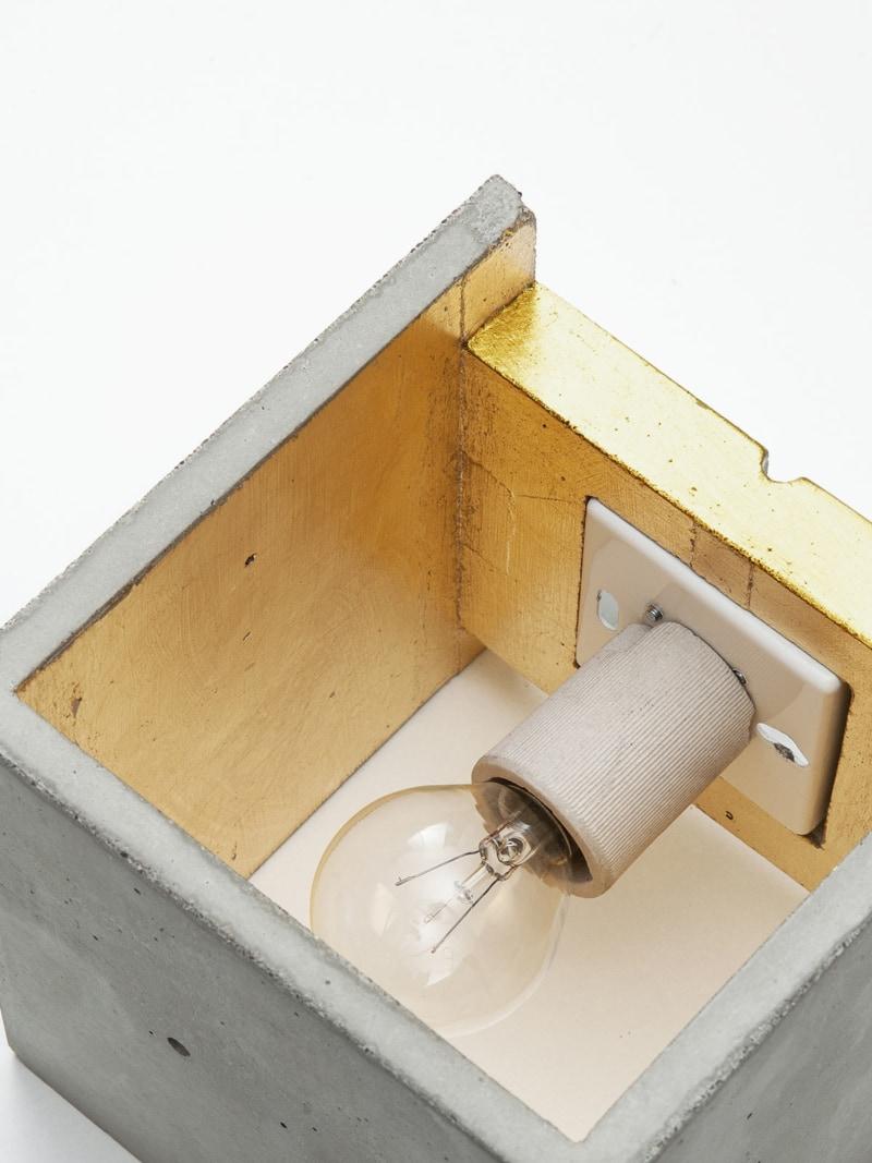 b3 wandlampe quadratisch beton gold 03