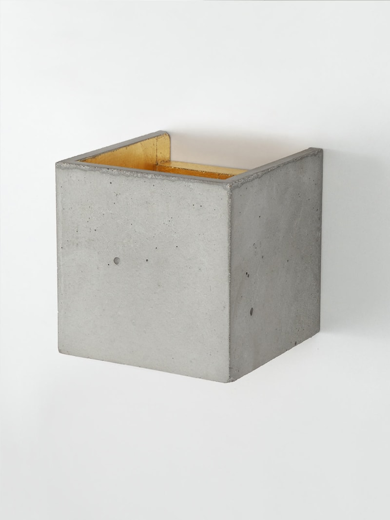 b3 wandlampe quadratisch beton gold 04