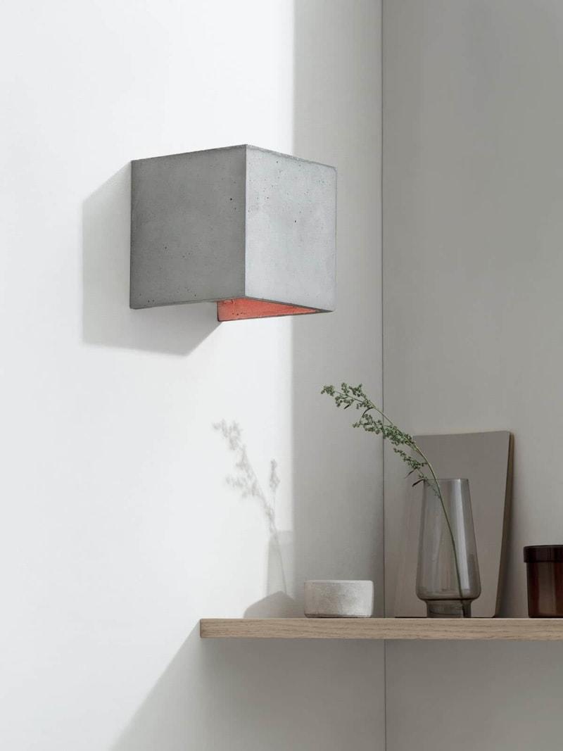 b3 wandlampe quadratisch beton kupfer 11