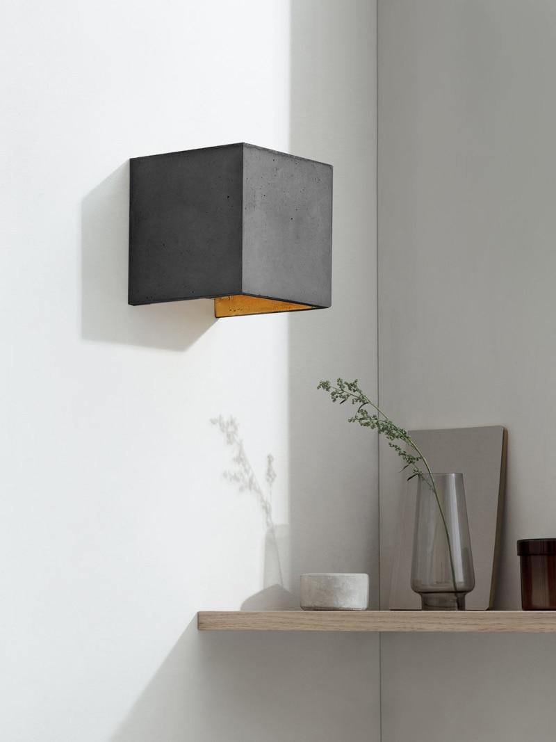 b3dark wandlampe quadratisch beton gold 00