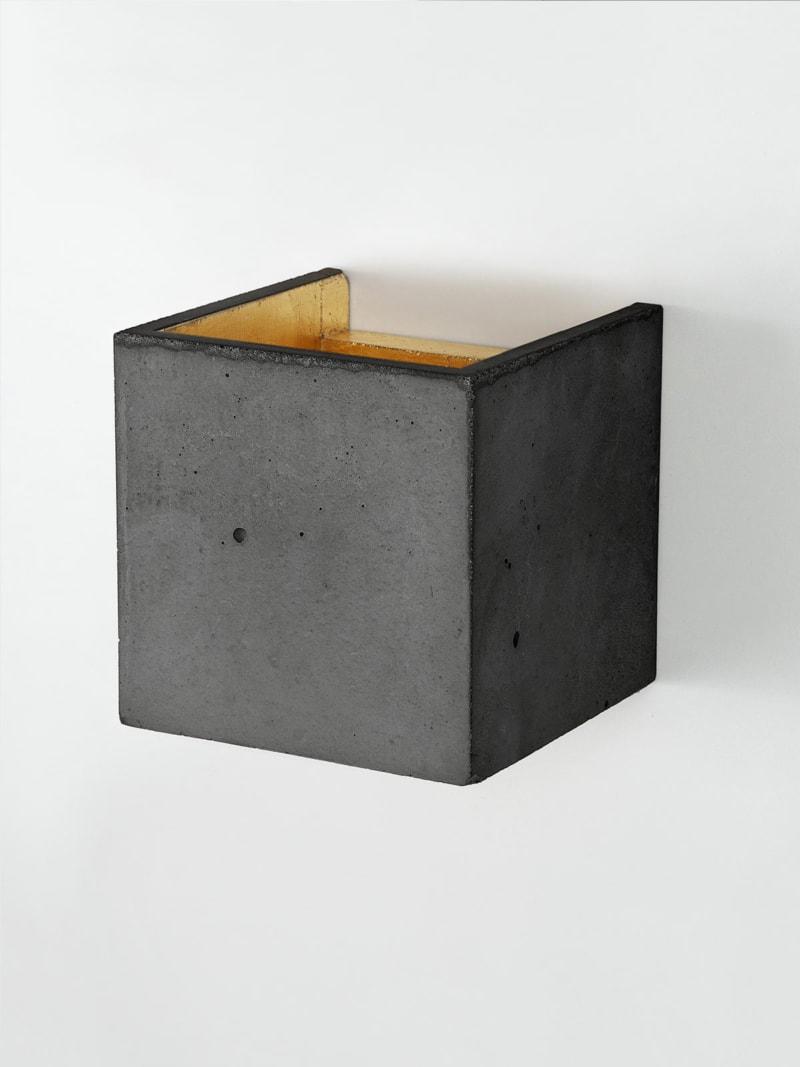 b3dark wandlampe quadratisch beton gold 02