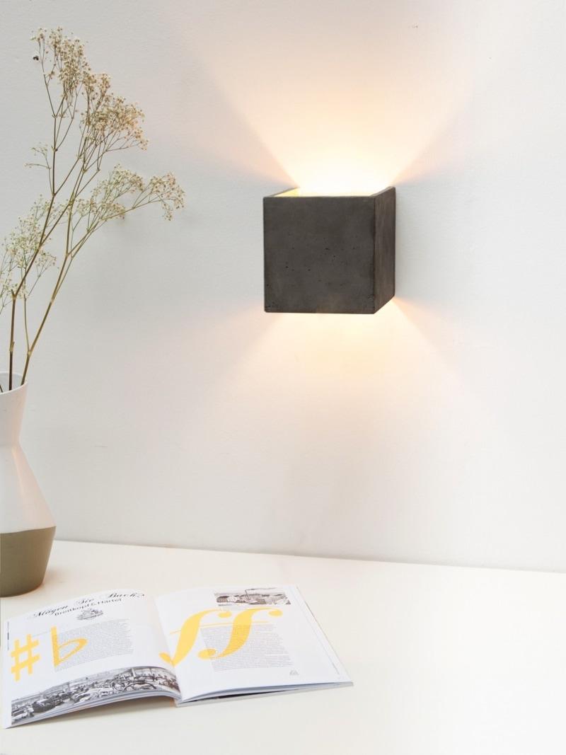b3dark wandlampe quadratisch beton gold 03