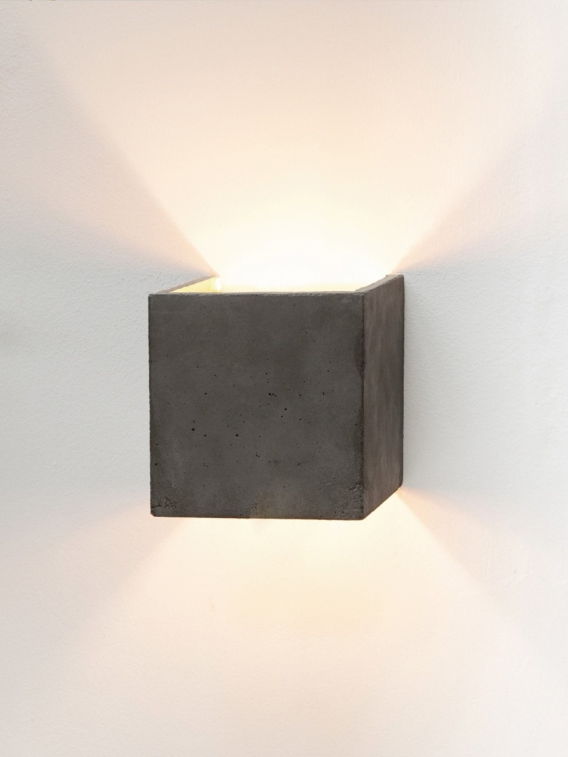 b3dark wandlampe quadratisch beton gold 04