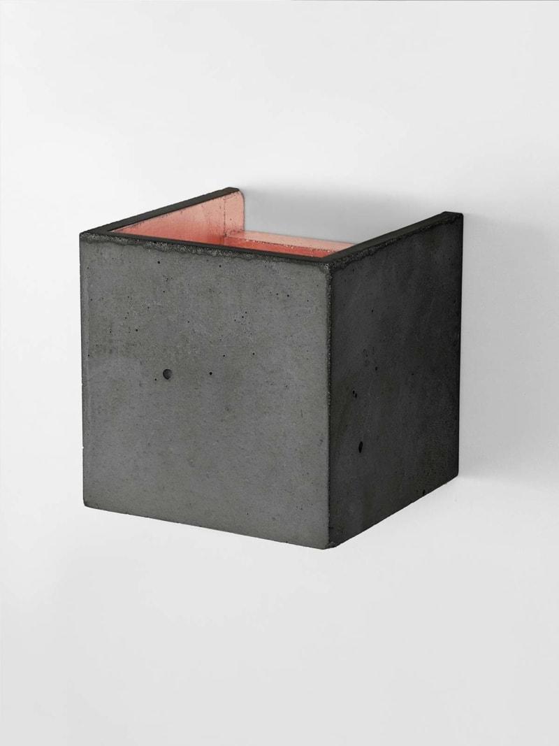 b3dark wandlampe quadratisch beton kupfer 08