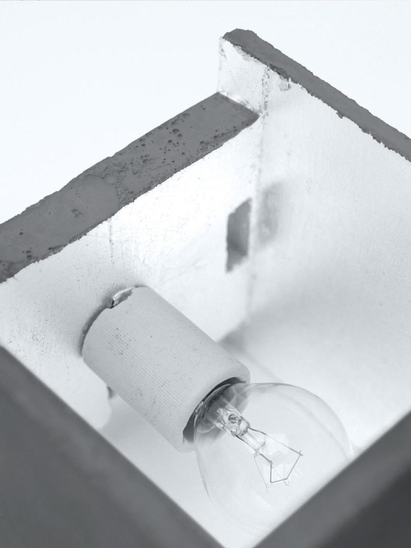 b3dark wandlampe quadratisch beton silber 07