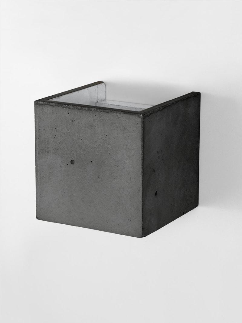 b3dark wandlampe quadratisch beton silber 10