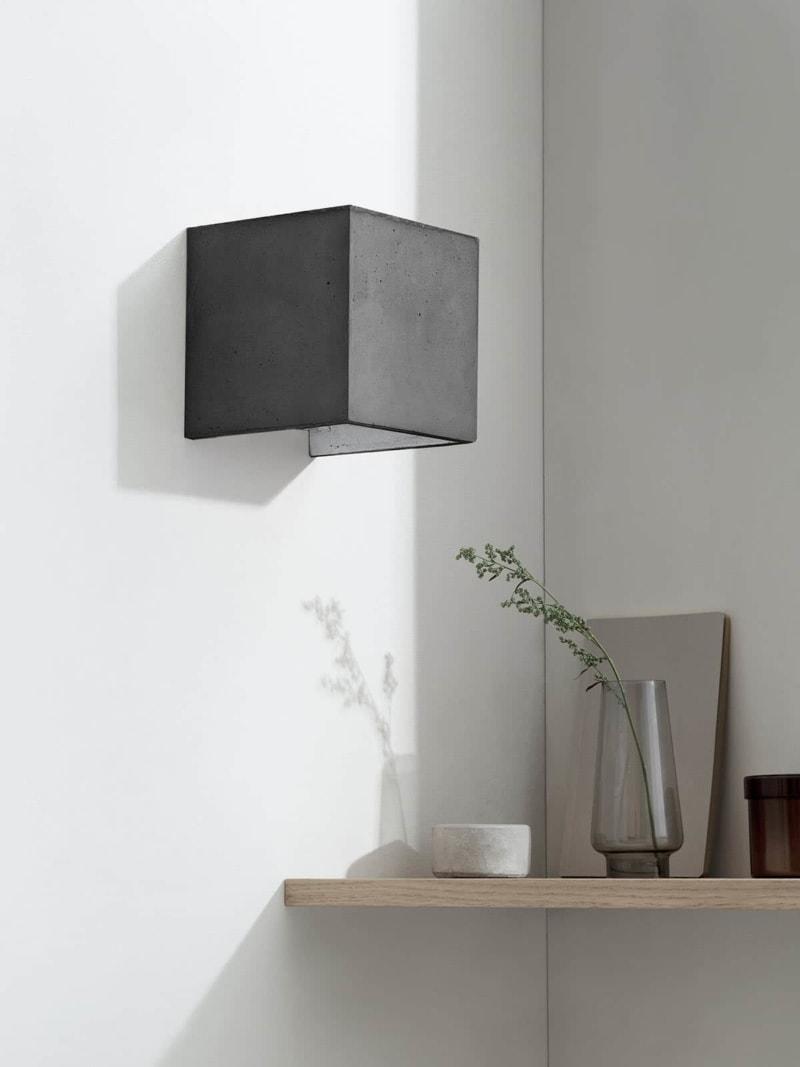 b3dark wandlampe quadratisch beton silber 11
