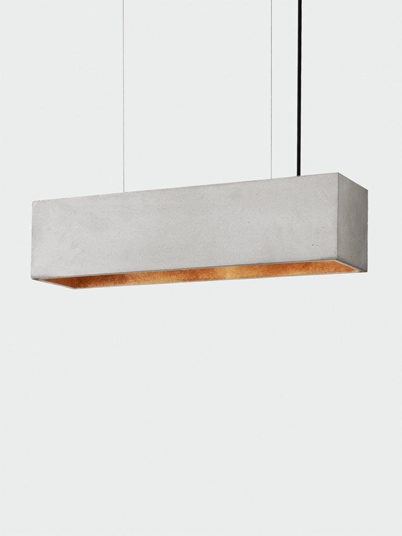 b4 pendelleuchte rechteckig beton gold 07