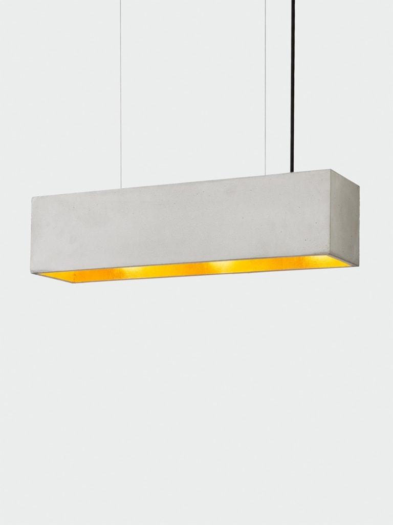 b4 pendelleuchte rechteckig beton gold 08