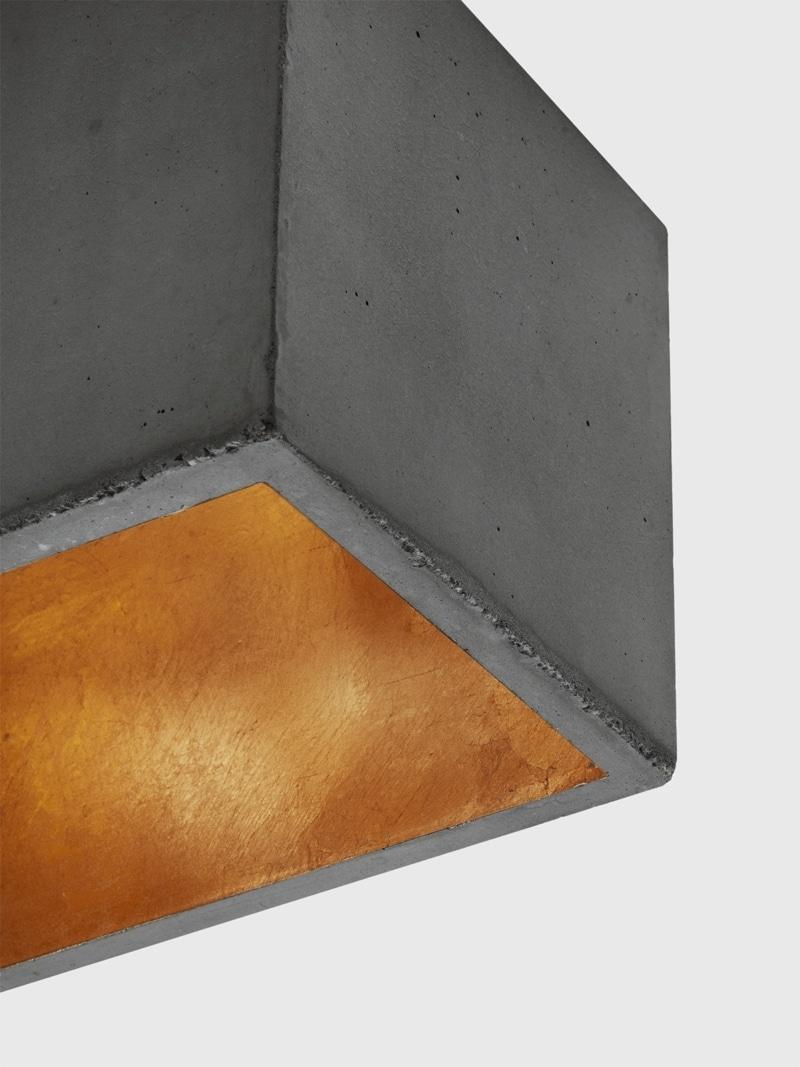 b4dark pendelleuchte rechteckig beton gold 05