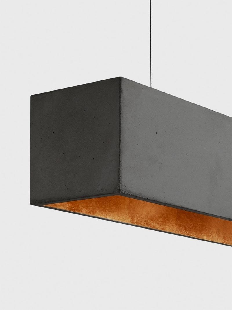b4dark pendelleuchte rechteckig beton gold 06