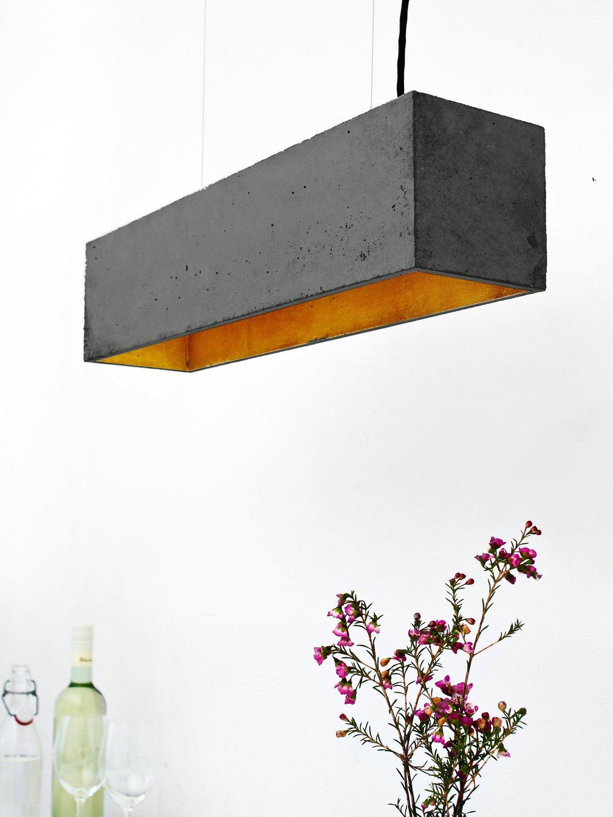 b4dark pendelleuchte rechteckig beton gold 15