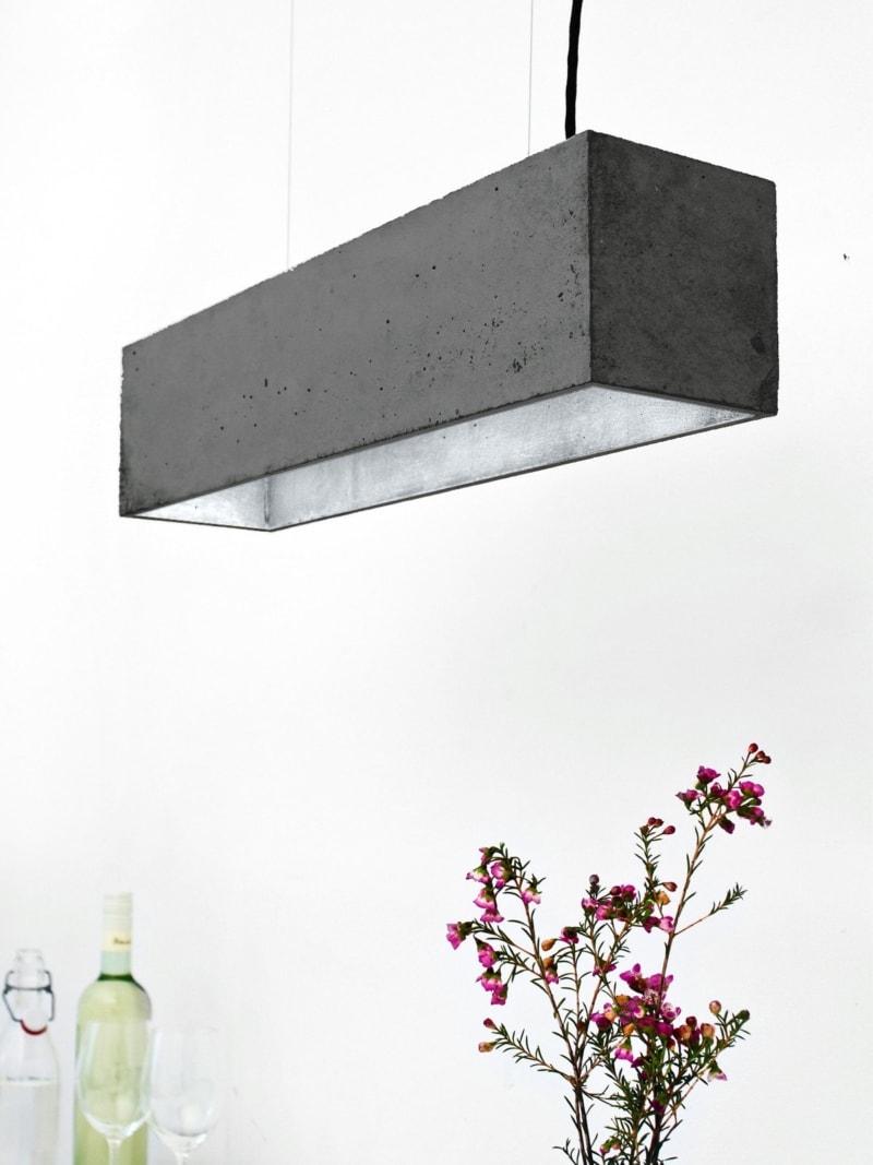 b4dark pendelleuchte rechteckig beton silber 13