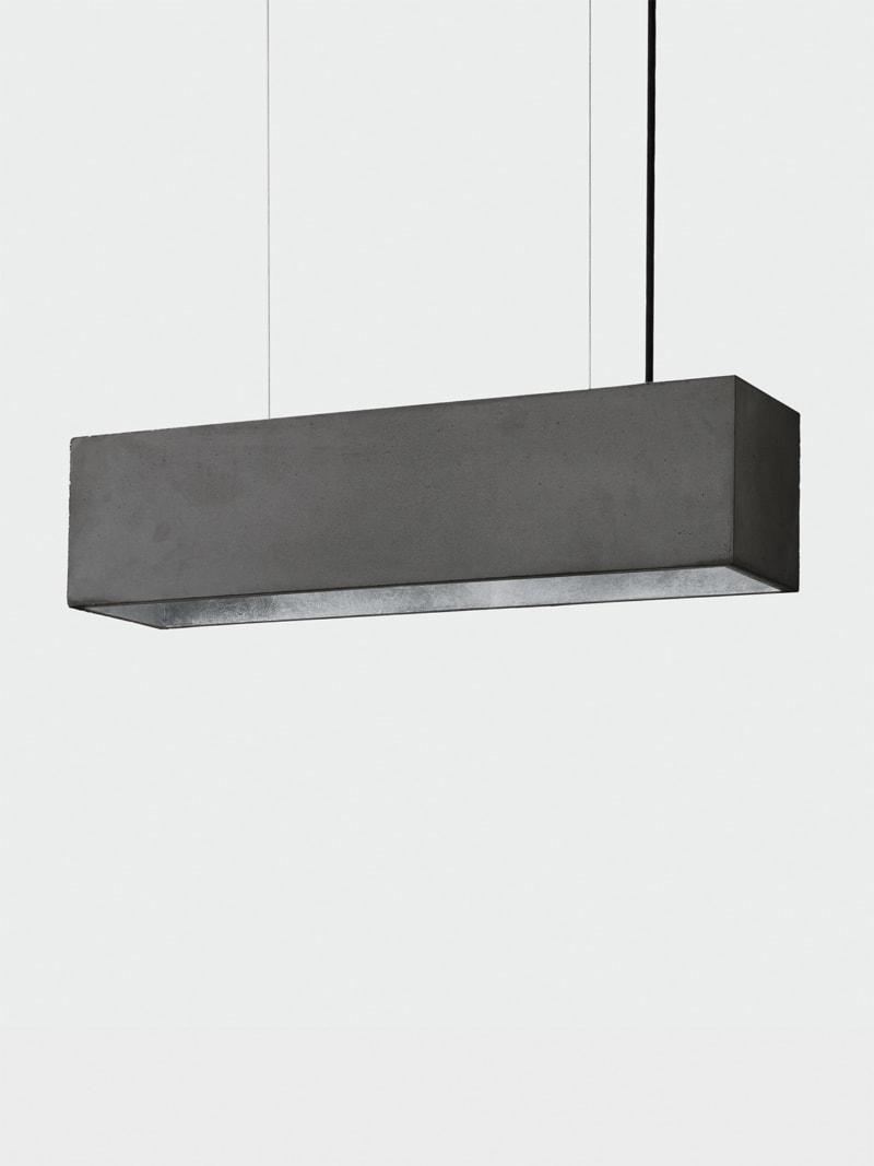 b4dark pendelleuchte rechteckig beton silber 17