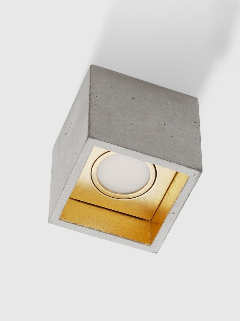 b7 deckenspot deckenlampe quadratisch beton gold 02