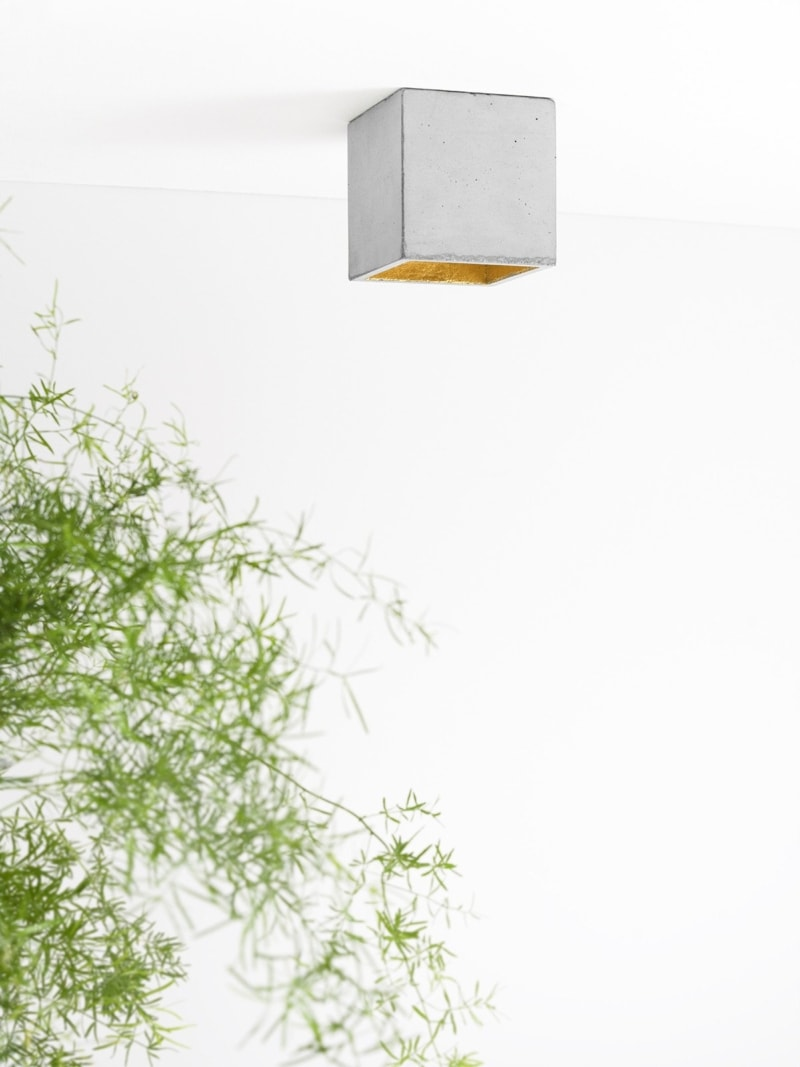 b7 deckenspot deckenlampe quadratisch beton gold 05