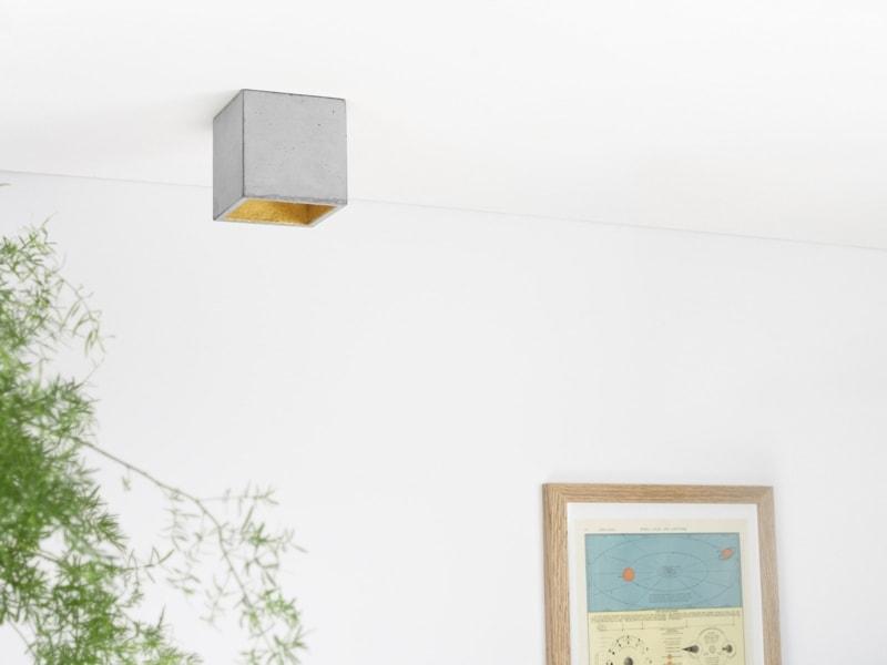 b7 deckenspot deckenlampe quadratisch beton gold 06