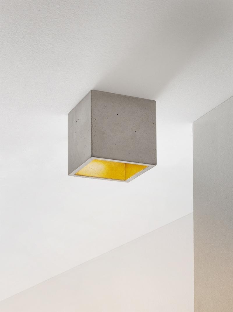 b7 deckenspot deckenlampe quadratisch beton gold 09