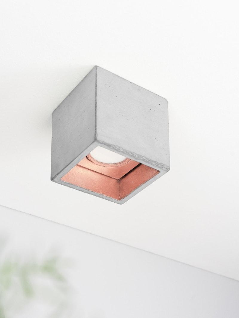 b7 deckenspot deckenlampe quadratisch beton kupfer 07