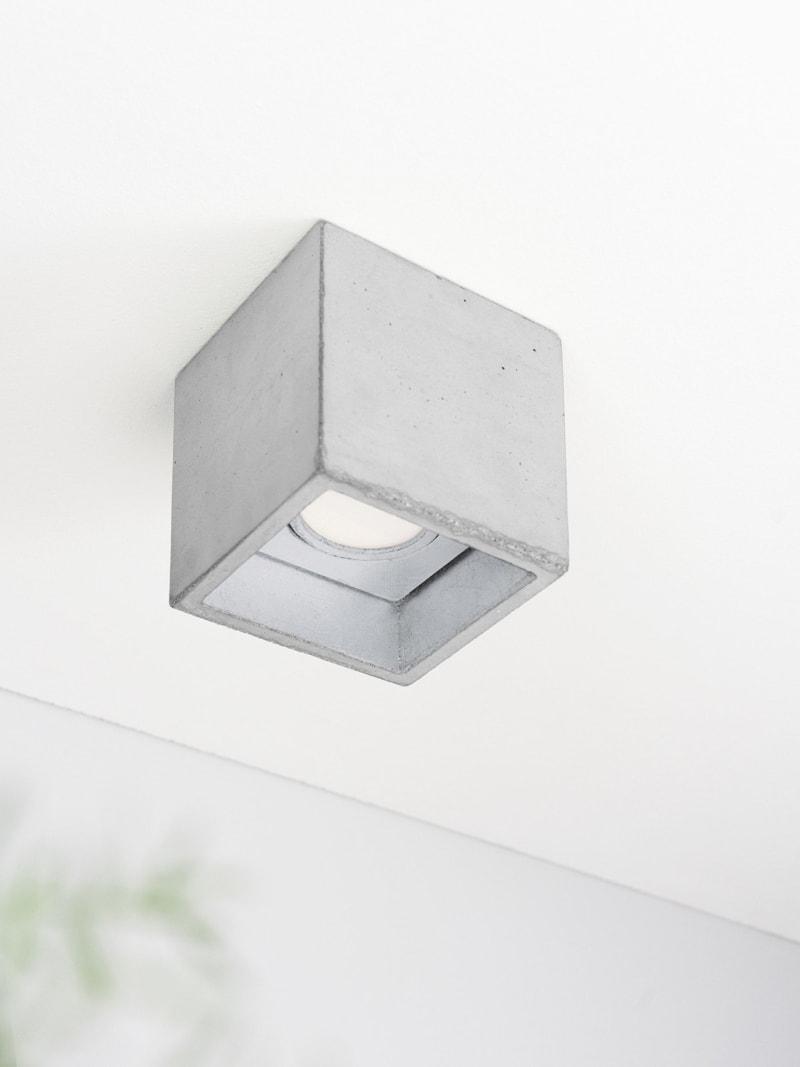b7 deckenspot deckenlampe quadratisch beton silber 08