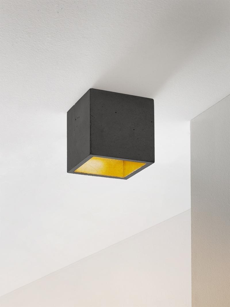 b7dark deckenspot deckenlampe quadratisch beton gold 00