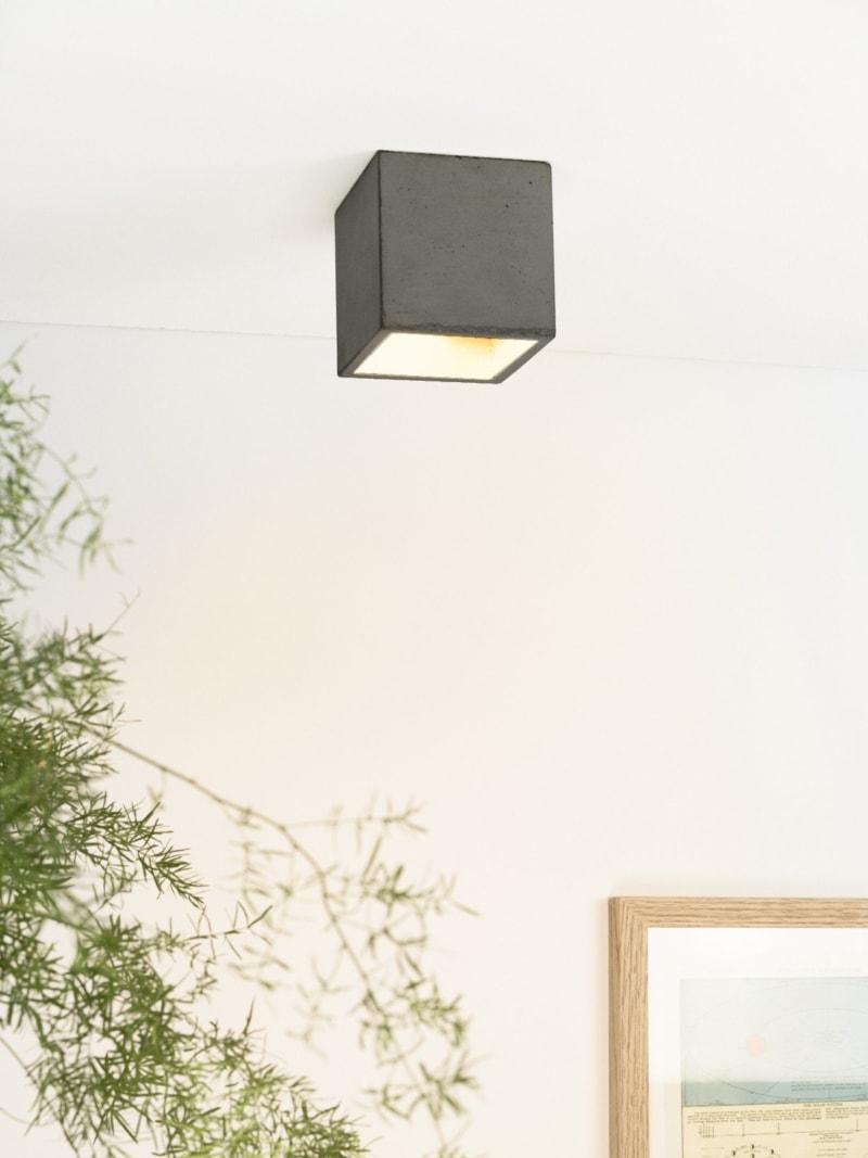 b7dark deckenspot deckenlampe quadratisch beton gold 01