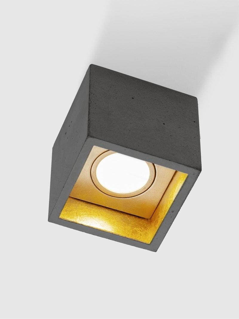b7dark deckenspot deckenlampe quadratisch beton gold 03