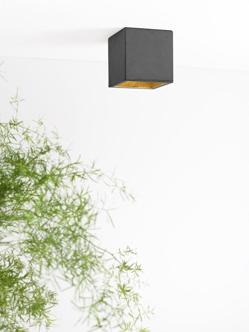 b7dark deckenspot deckenlampe quadratisch beton gold 04