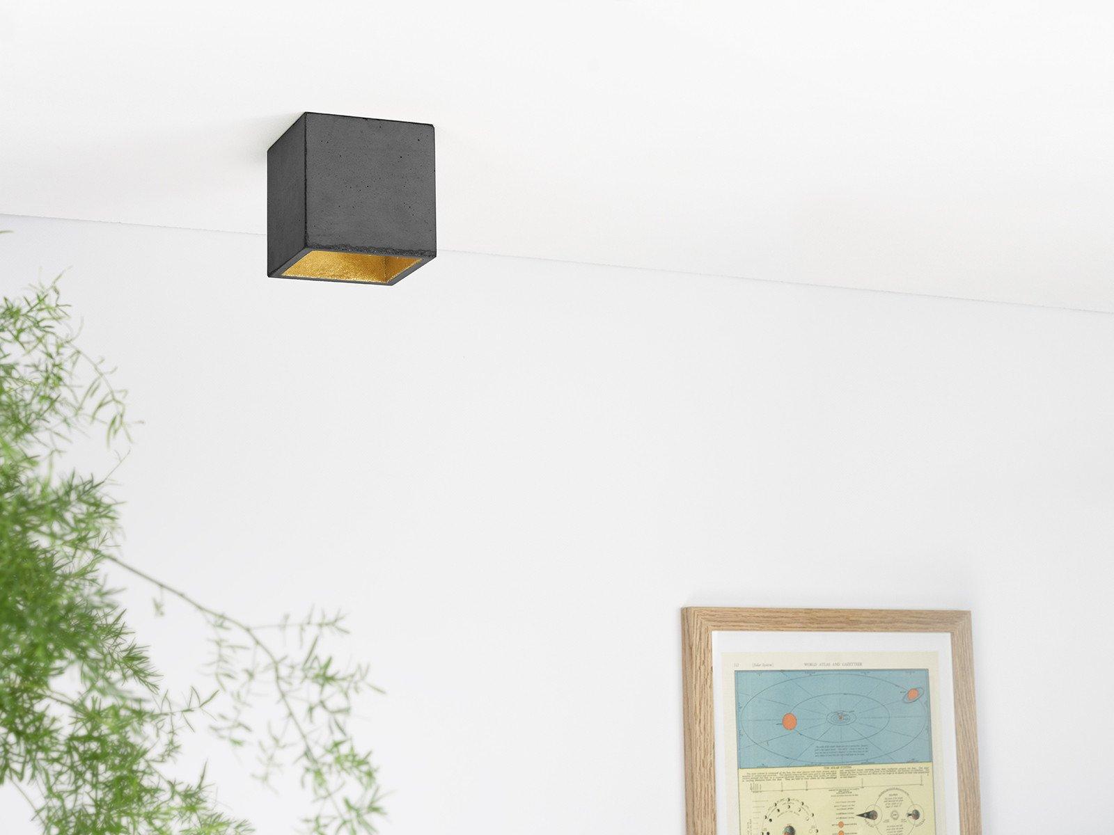 b7dark deckenspot deckenlampe quadratisch beton gold 05