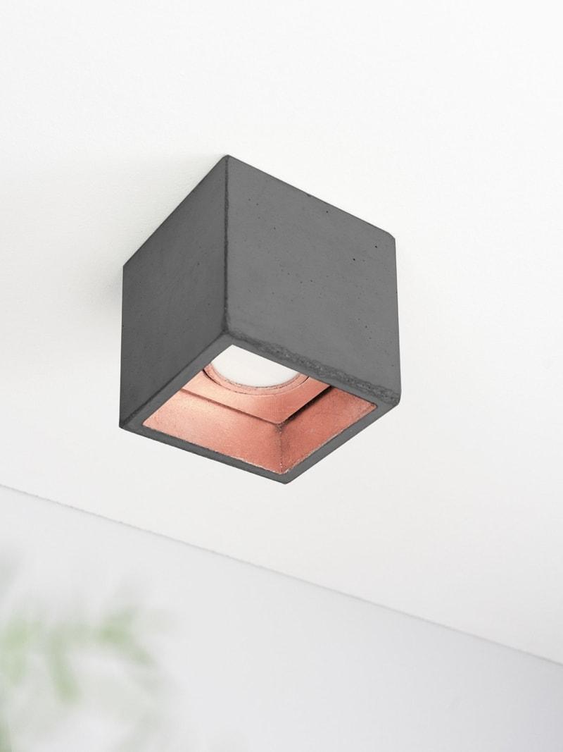 b7dark deckenspot deckenlampe quadratisch beton kupfer 07