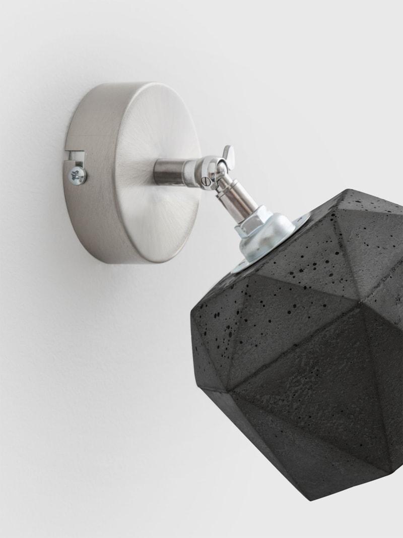 t2dark spot wandlampe trianguliert beton 05