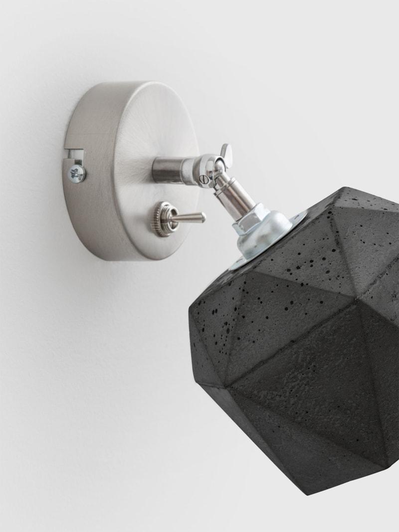 t2dark spot wandlampe trianguliert beton 06