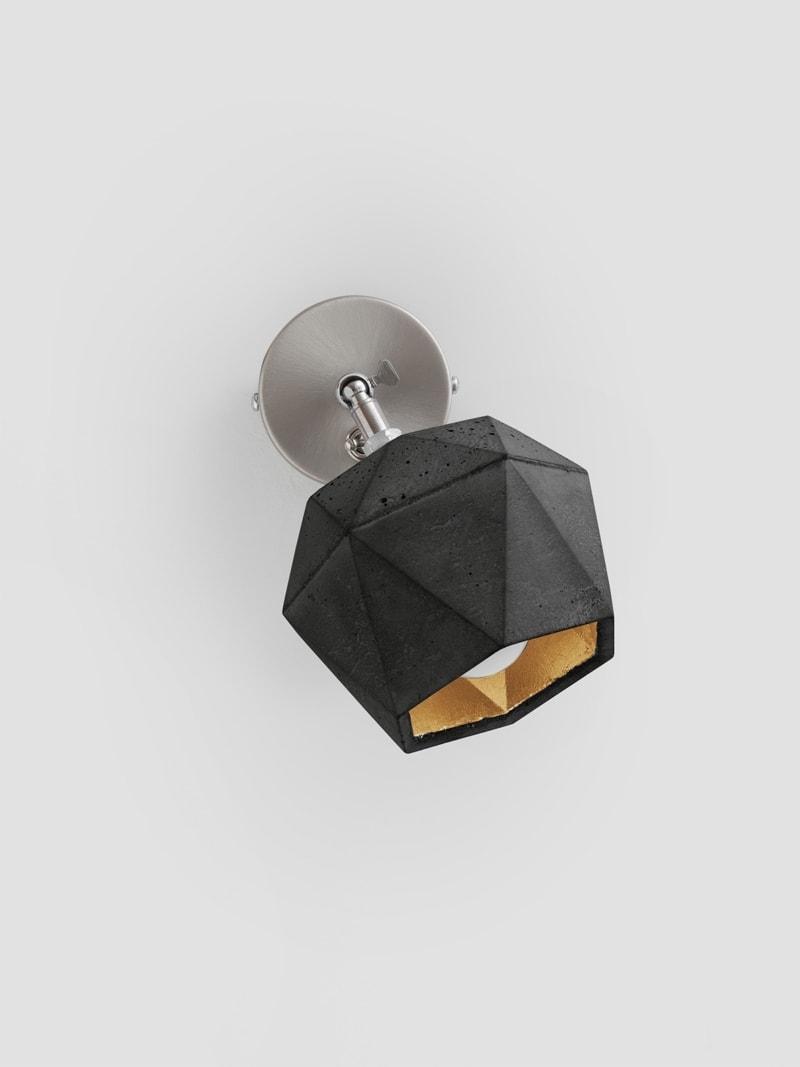 t2dark spot wandlampe trianguliert beton gold 03