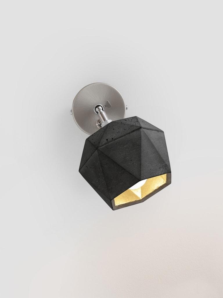 t2dark spot wandlampe trianguliert beton gold 04
