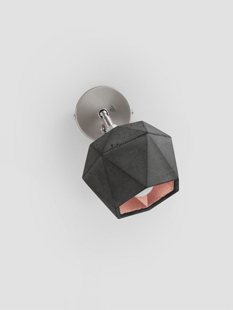 t2dark spot wandlampe trianguliert beton kupfer 07