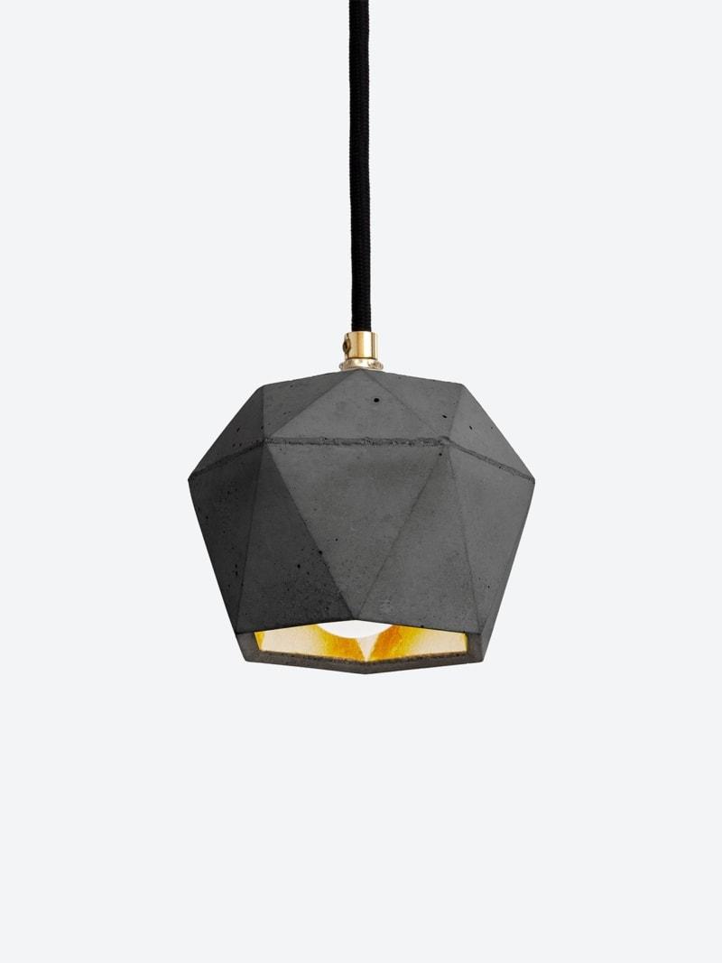 t2set dark haengelampe lampenbuendel trianguliert beton gold 07