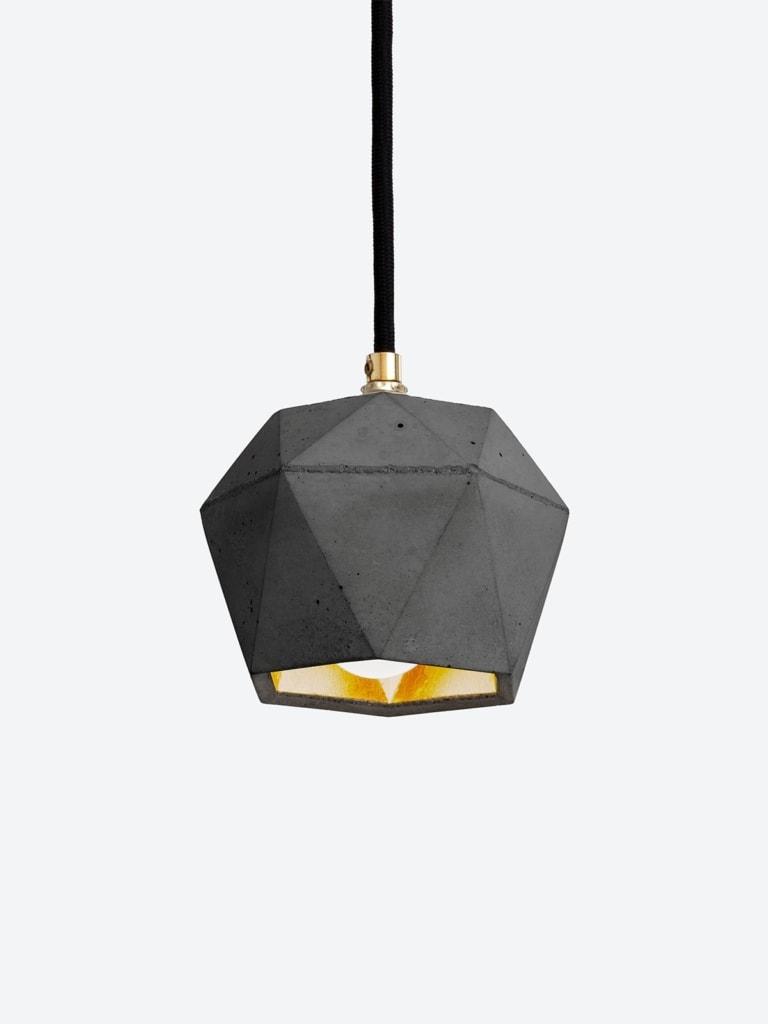 t2set dark haengelampe lampenbuendel trianguliert beton gold 13
