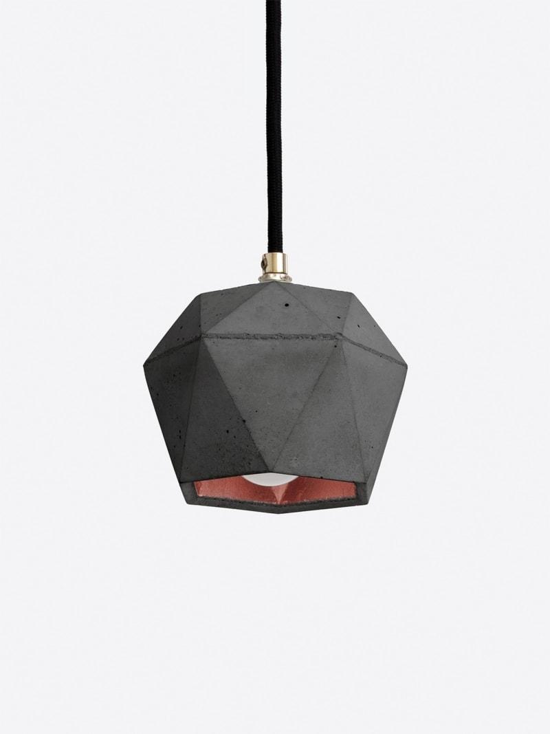 t2set dark haengelampe lampenbuendel trianguliert beton kupfer 08