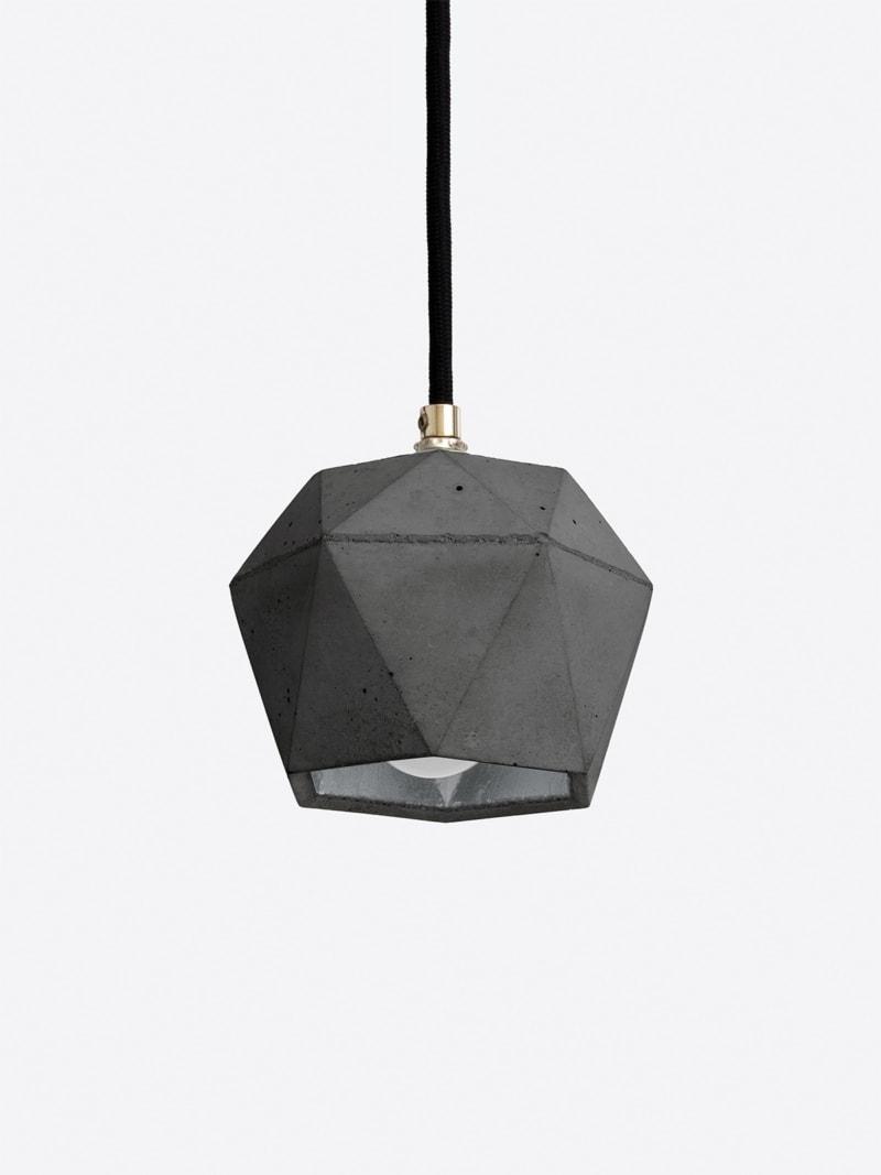 t2set dark haengelampe lampenbuendel trianguliert beton silber 09