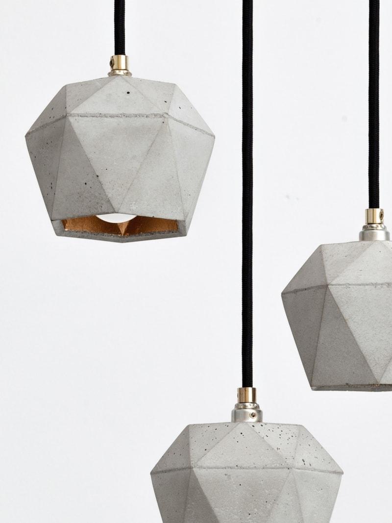 t2set haengelampe lampenbuendel trianguliert beton gold 03