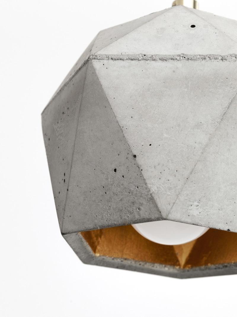 t2set haengelampe lampenbuendel trianguliert beton gold 05
