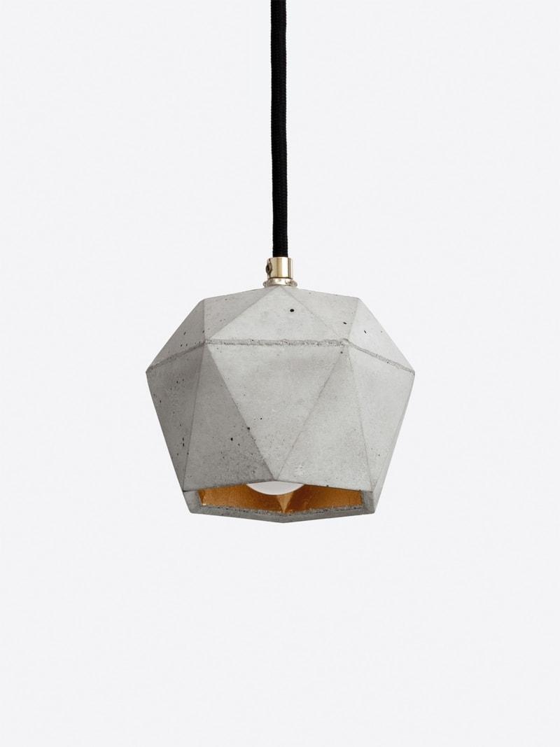 t2set haengelampe lampenbuendel trianguliert beton gold 06