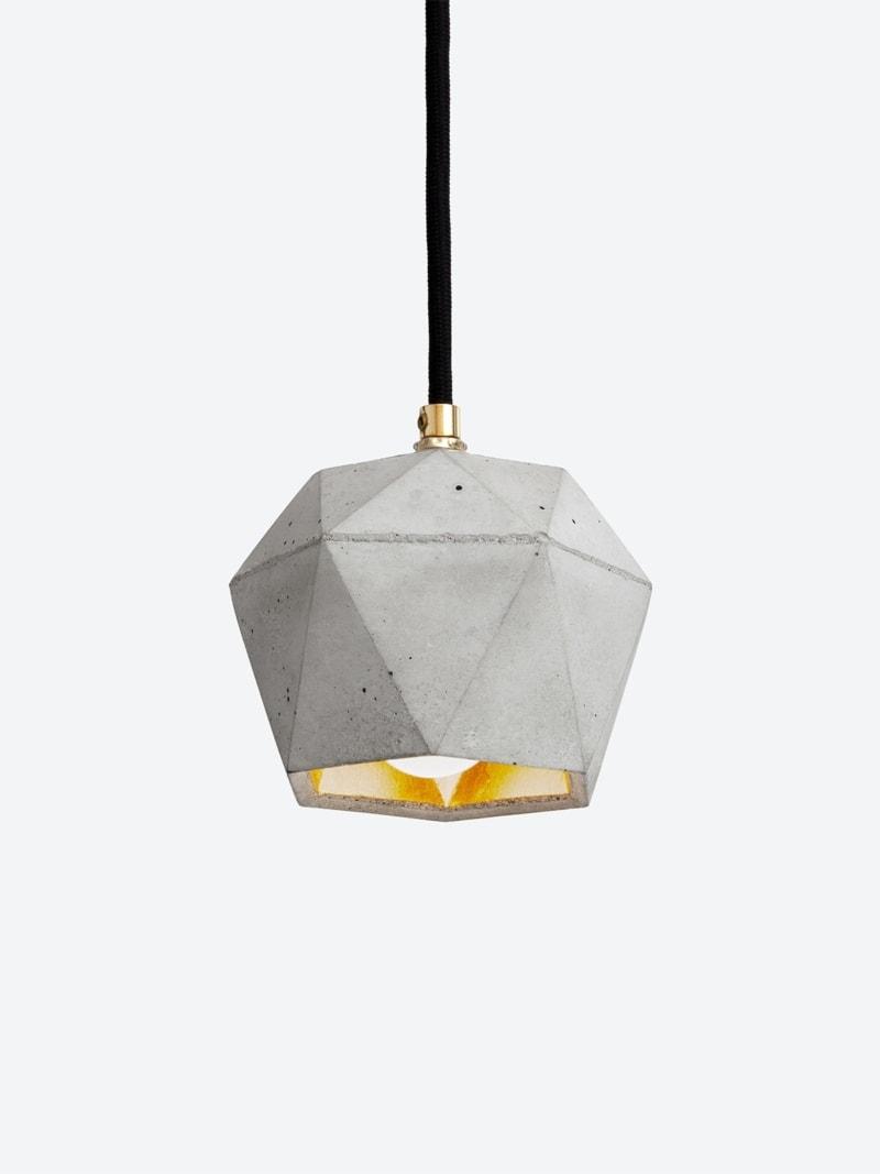 t2set haengelampe lampenbuendel trianguliert beton gold 07